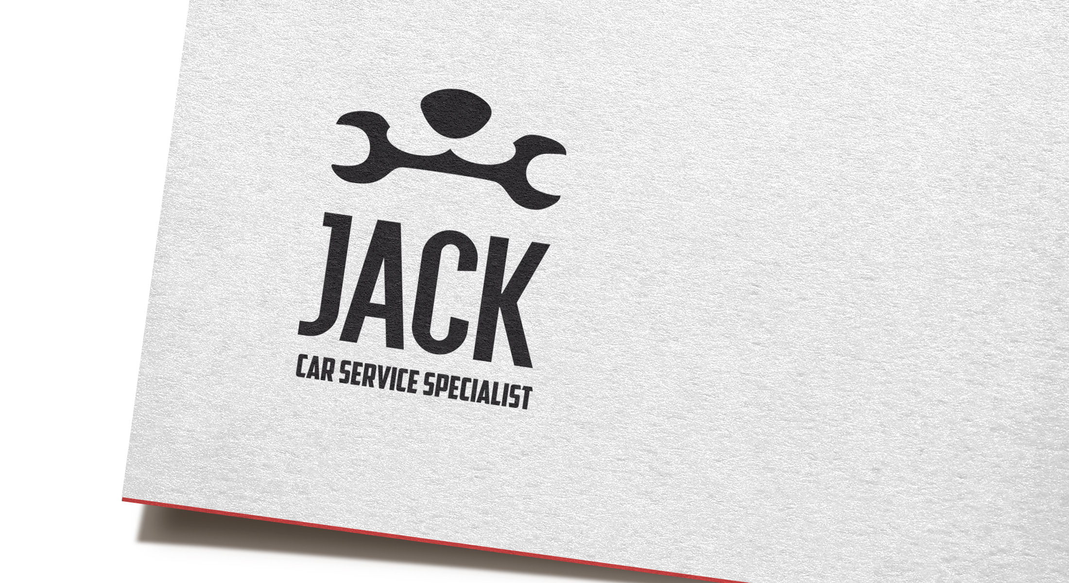 logo design printed on laminated business card