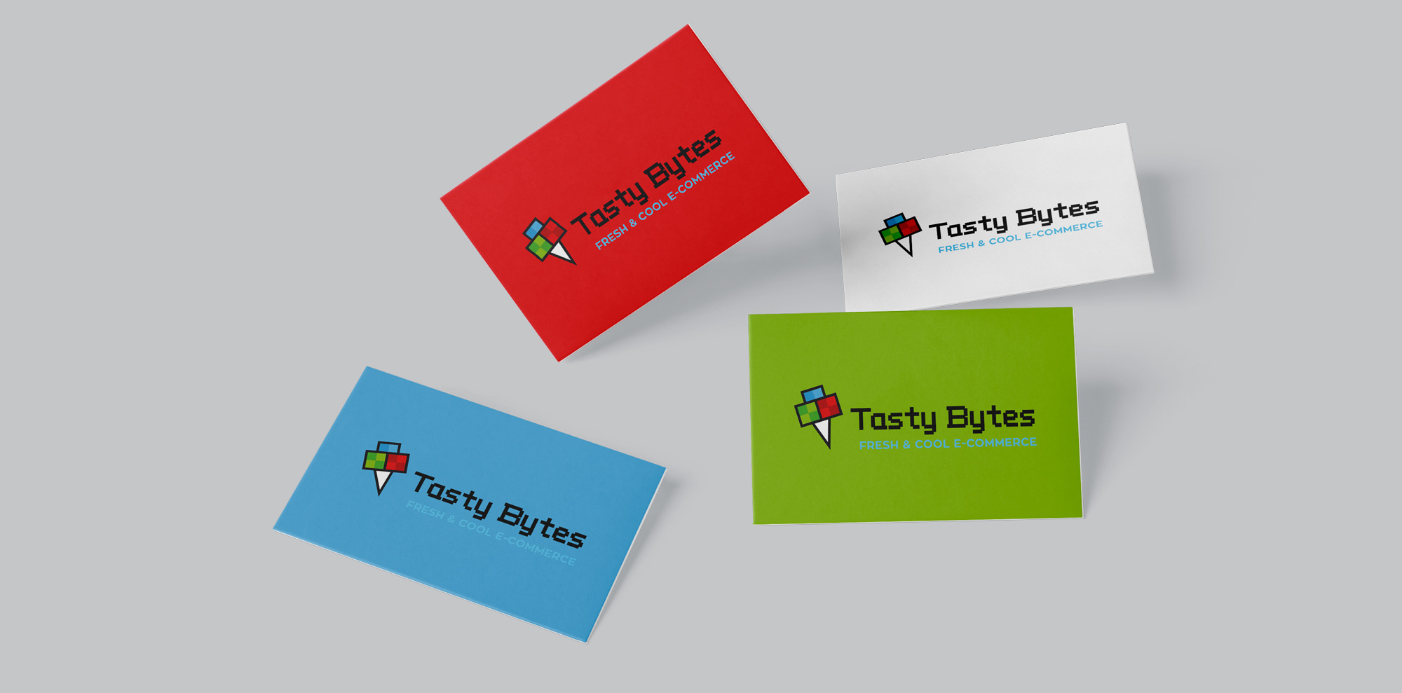 business cards of corporate identity design