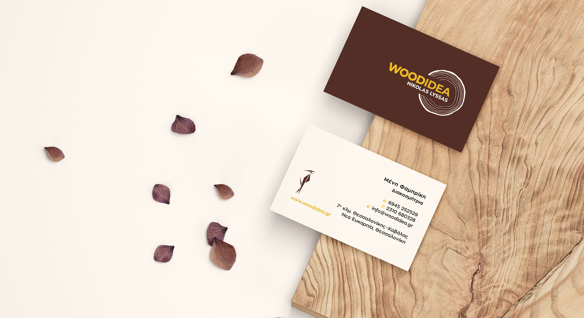 business cards of corporate identity with secondary graphics